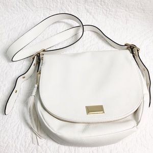 Juicy Couture white leather crossbody purse NWOT